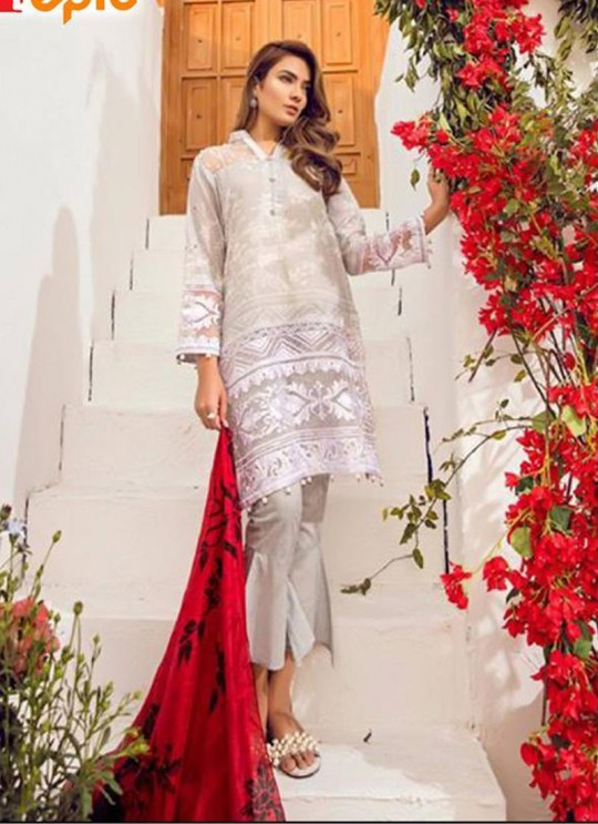 Off White Cambric Casual Wear Pakistani Suits Rosemeen Autograph 38002 Set By Fepic SC/014282