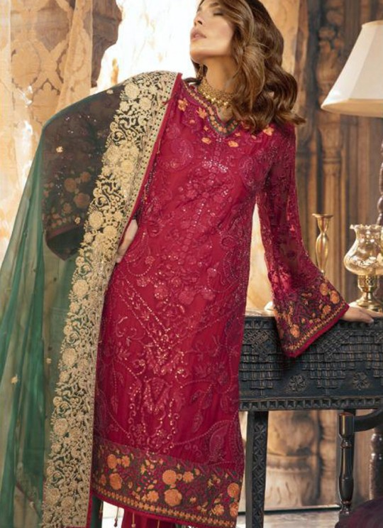 Red Faux Georgette Party Wear Pakistani Suits Signature 36001 Set By Fepic SC/015237