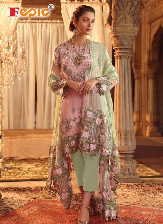 Multicolor Georgette Party Wear Pakistani Suits Rosemeen Luxury Royal 40001 By Fepic SC/015422