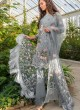 Grey Cambric Cotton Embroidered Party Wear Pakistani Suits Rosemeen Crosslawn By Fepic SC/016294