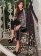 Black Cambric Cotton Embroidered Party Wear Pakistani Suits Rosemeen Crosslawn By Fepic SC/016294