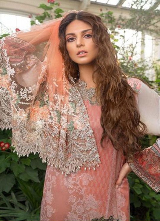 Gold Cambric Cotton Embroidered Party Wear Pakistani Suits Rosemeen Crosslawn By Fepic SC/016294