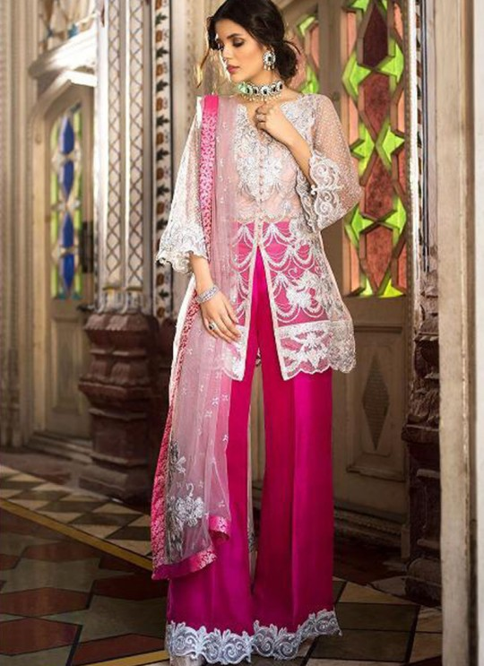 Off White Net Party Wear Pakistani Suits Rosemeen ZC 32003 Set By Fepic SC/013780