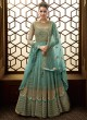 Majestic Net Abaya Style Anarkali Suit For Bridesmaids In Blue Color Majesty 15007 C Color By Glossy SC/015498