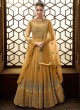 Magnificent Net Abaya Style Anarkali Suit For Bridesmaids In Yellow Color Majesty 15007 D Color By Glossy SC/015499