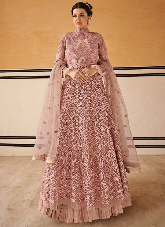 Crown By Glossy 15202 Pink Wedding Gown Style Anarkali SC-015759