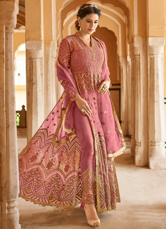 Mauve Net Abaya Style Anarkali For Bridesmaids Highness 15102B Color By Glossy SC/015099