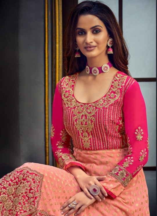Safeena-2021 By Hotlady 7755 Baby Pink Pure ViscoseWedding Wear Gown Style Anarkali