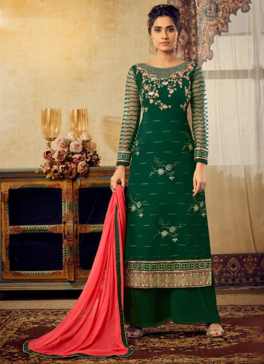 Green Georgette Mishti 2nd Edition 6124 By Hotlady SC/016819