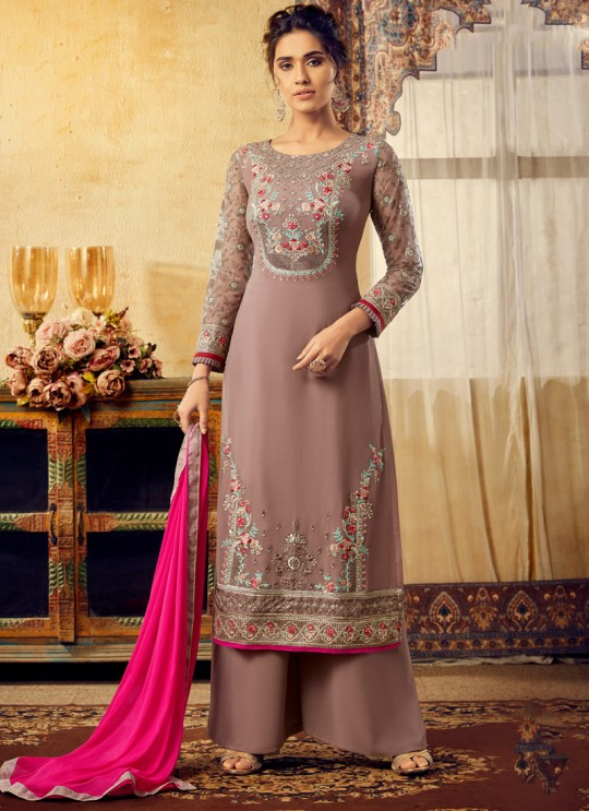 Mauve Georgette Mishti 2nd Edition 6128 By Hotlady SC/016823