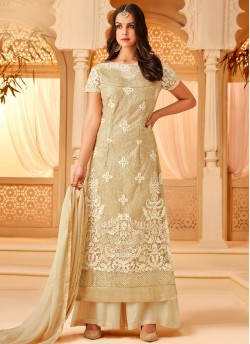 955335c462 Gold Net Embroidered Party Wear Staraight Cut Suit Myra Vol 3 5111 By  Hotlady SC/
