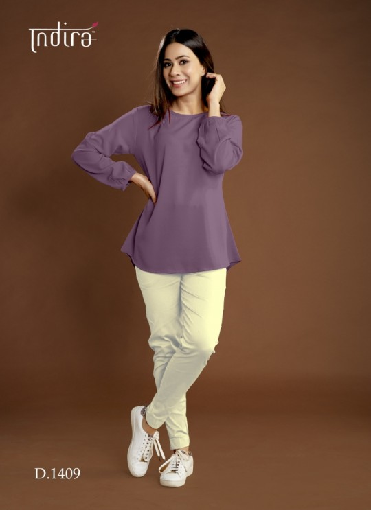 Purple Viscose Georgette Casual Wear Indo-Western Full Set Forever 1409 By Indira Apparel SC/IA1409