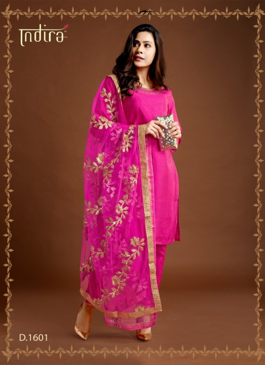 Pink Silk Party Wear Ready Made Suits Full Set Hayat Readymade 1601 By Indira Apparel SC/IA1601