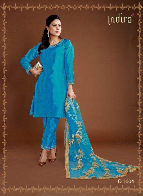 Royal Blue Silk Party Wear Ready Made Suits Full Set Hayat Readymade 1604 By Indira Apparel SC/IA1604