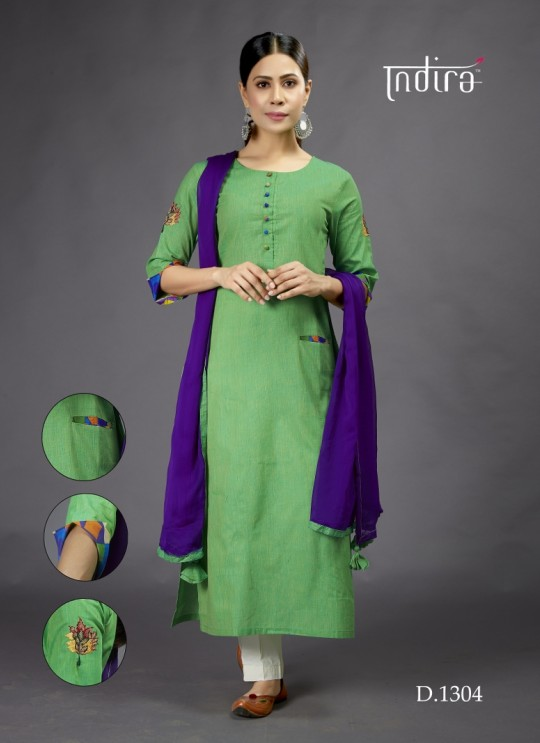 Green  Casual Wear Kurti Full Set Sada Bahar 1304 By Indira Apparel SC/IA1304