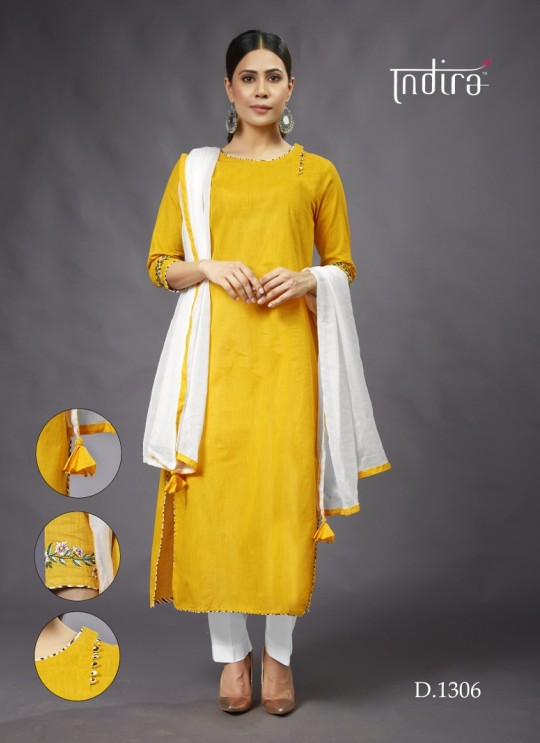 Yellow  Casual Wear Kurti Full Set Sada Bahar 1306 By Indira Apparel SC/IA1306