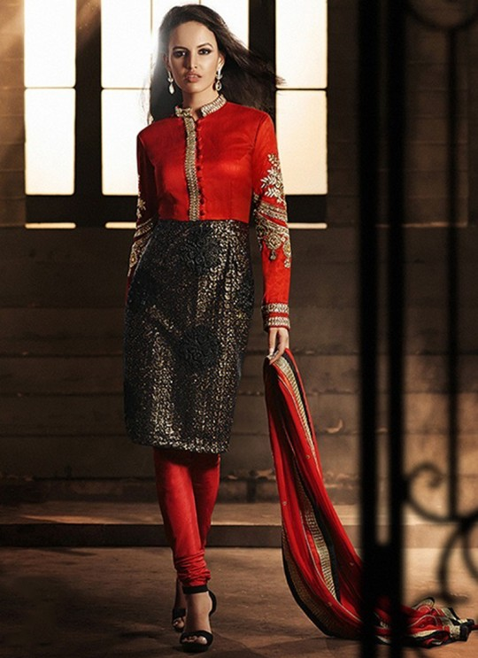 Red Bhagalpuri Silk Festival Party Heroine 5033 Colors 5033Y By Jinaam Dresses SC/000167