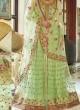 Green Net Wedding Skirt Kameez Floral 7398 By Jinaam Dresses SC/005187