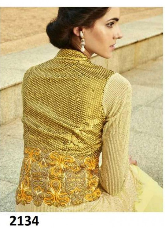 Elegance By Khwaab 2134 Yellow Net Bridal Lehenga Dress