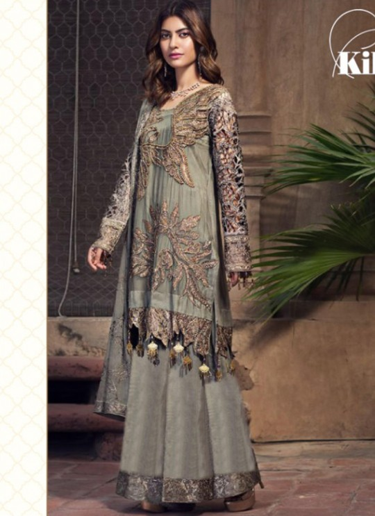 Jannat Attraction 11002 Colours BY Kilruba 11002 Grey Designer Pakistani Shalvar Kameez SC/016740