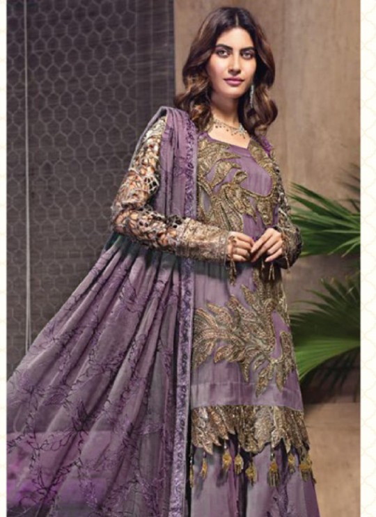 Jannat Attraction 11002 Colours BY Kilruba 11002C Purple Designer Pakistani Shalvar Kameez SC/017691