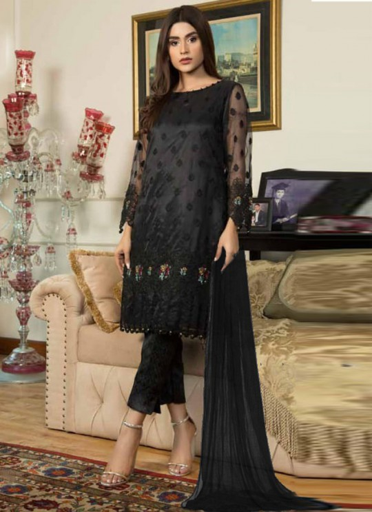 Jannat Formal Collection Vol 2 By Kilruba 22004 Black Net Pakistani Suit For Eid 2021 SC/017297