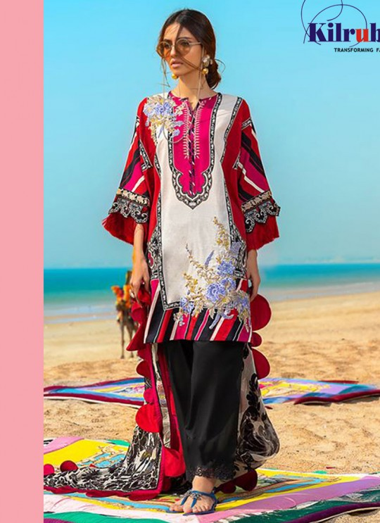 Muzlin Lawn Collection 2020 By Kilruba 21002 Pure Cotton Pakistani Suit In Multicolor