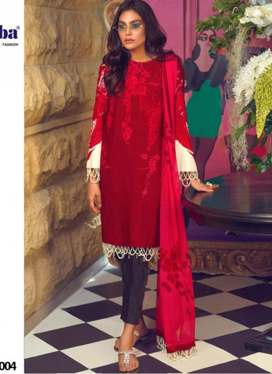 Muzlin Lawn Collection 2020 By Kilruba 21004 Pure Cotton Pakistani Suit In Red