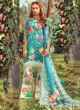 Blue Pure Cotton Pakistani Designer Suit Riwayat By Kilruba SC018461