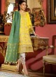 Yellow Pure Cotton  Pant Style Suit Naye Rang By Kilruba SC018448