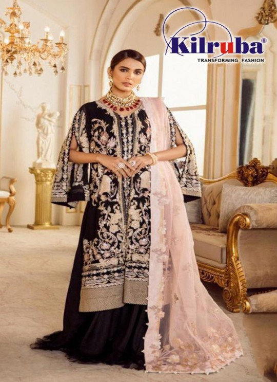Black Georgette Designer Pakistani Salwar Kameez 80 Colors By Kilruba SC018435