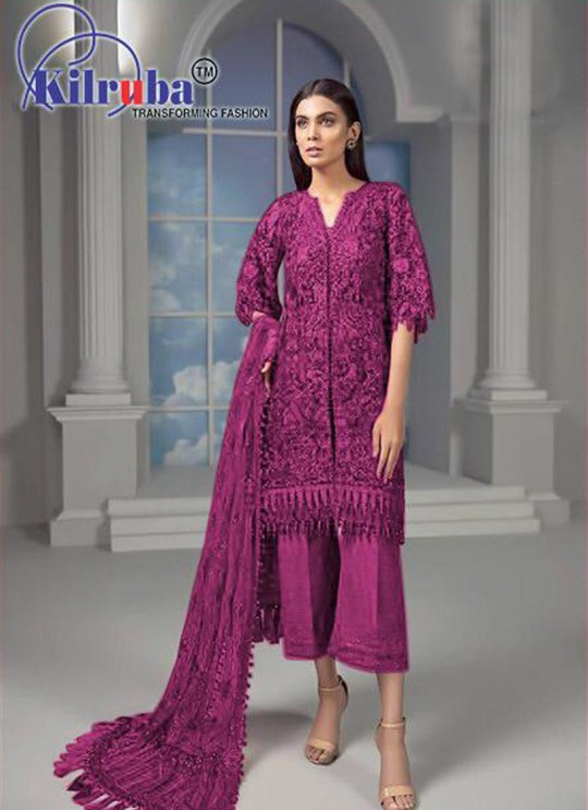 Rani Net Designer Straight Cut Suit 8144 Colours By Kilruba SC015636