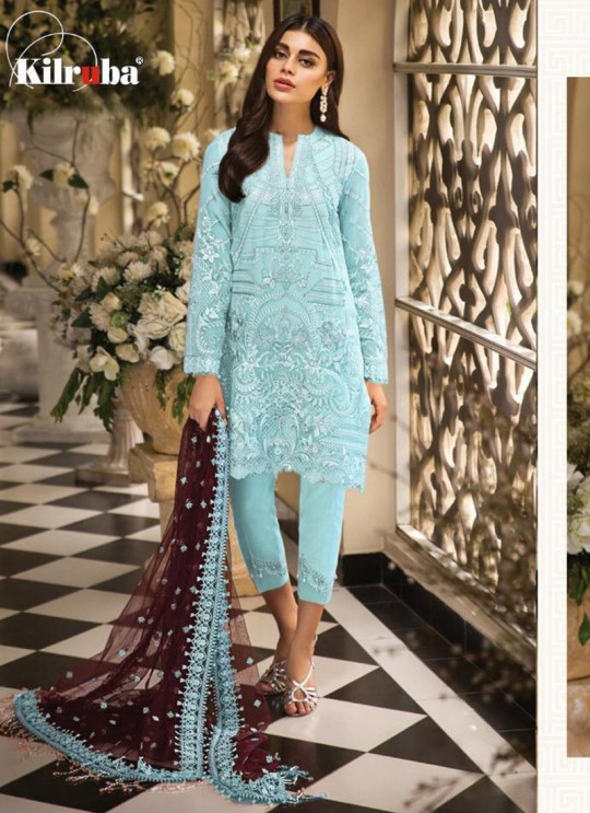 901 Colors 901A By Kilruba Turquoise Festival Wear Pakistani Suit SC-016392