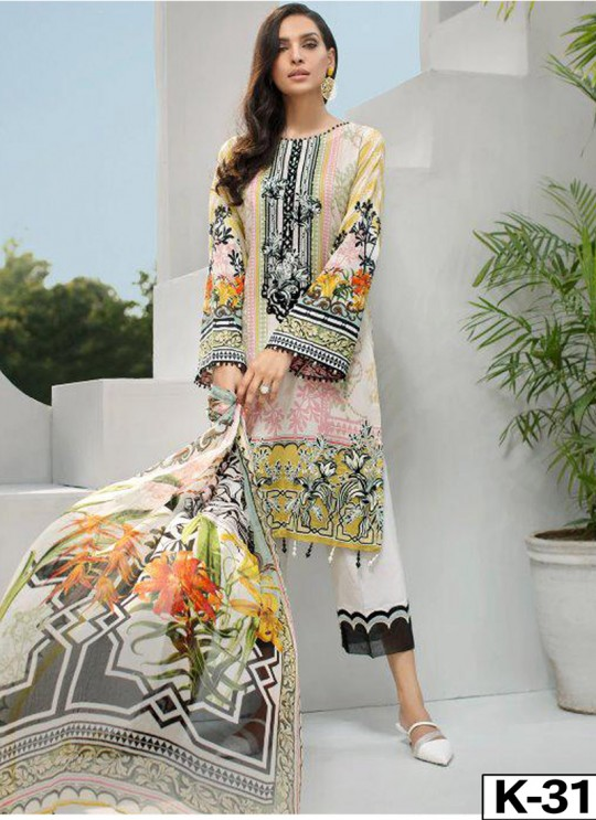 Iris Lawn Vol 20 K-31 By Kilruba Multicolor Party Wear Pakistani Suit SC-017069
