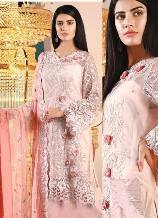 Pink Georgette Embroidered Pakistani Suits Jannat Royal Collection 3005 By Kilruba SC/013266