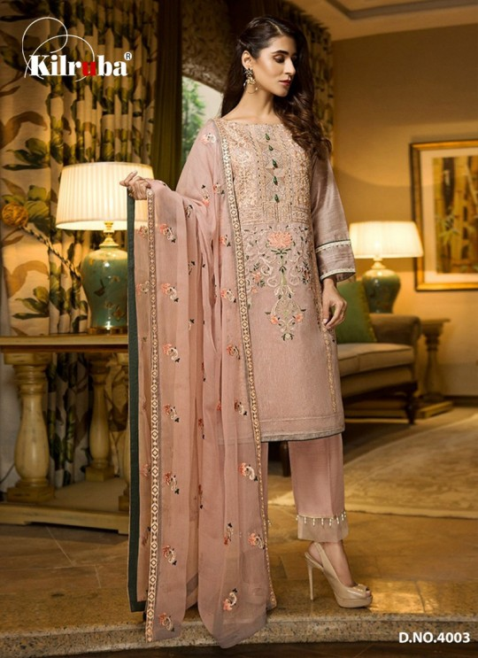 Pink Georgette Embroidered Pakistani Suits Summer Dream 4003 By Kilruba