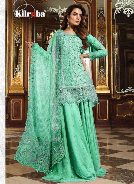 K 12 Colors K-12B By Kilruba Green Reception Wear Pakistani Suit SC-017350