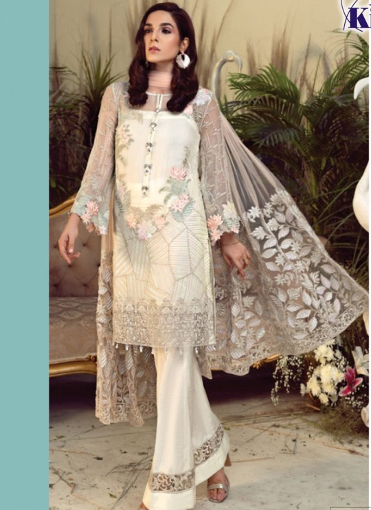 K 24 Colors K-24CR By Kilruba Cream Eid Wear Pakistani Suit SC-017033