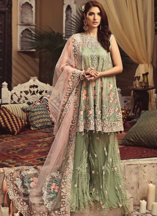 Green Net Embroidered Pakistani  Suits 02 Colors 02 Pista By Kilruba SC/013717