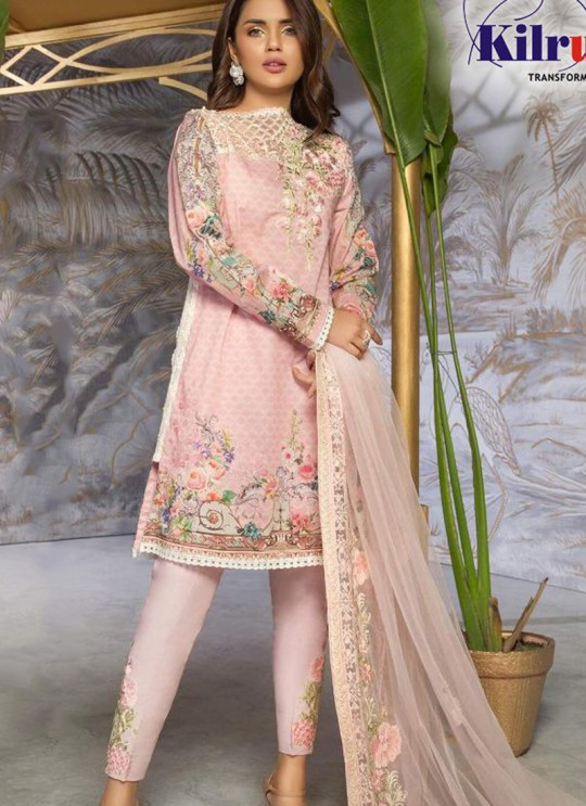 Kilruba Super Hit By Kilruba KF-07 Pink Lawn Party Wear Pakistani Salwar Kameez SC017677
