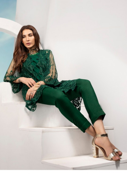 Green Net Pakistani Suit Jannat Formal Collection 10006 By Kilruba SC/016619