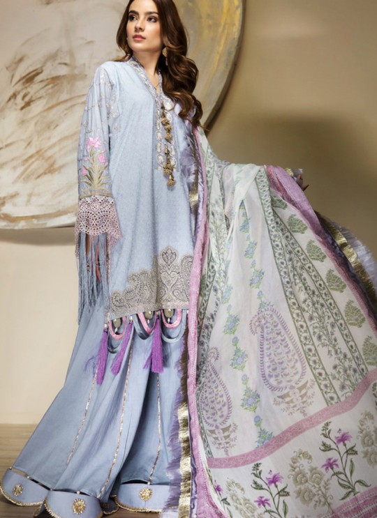 Blue Cambric Cotton Pakistani Suit Jannat Lawn Editions 8004 By Kilruba SC/016106