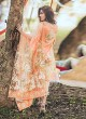 Rang Rasiya Digital Lawn Color By Kilruba K45O Peach Cotton Party Wear Pakistani Lawn Suit