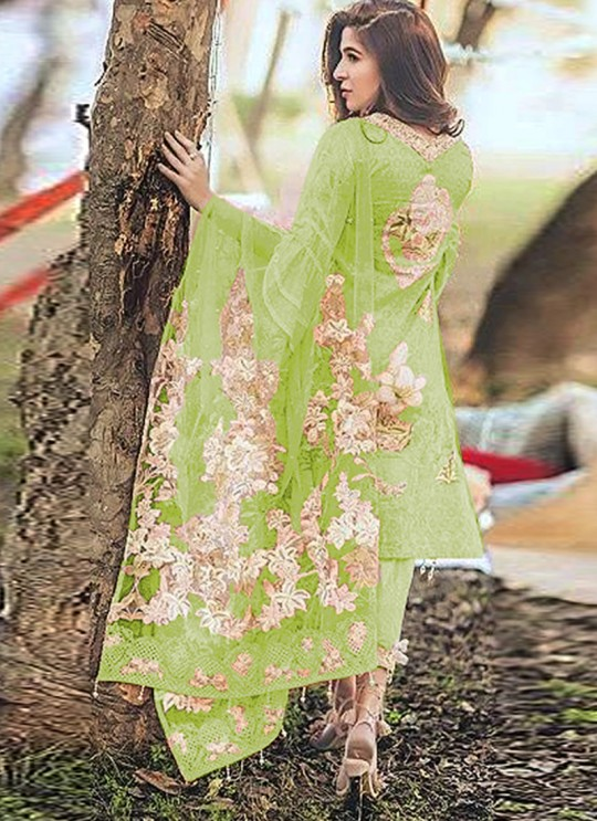 Rang Rasiya Digital Lawn Color By Kilruba K45B Green Cotton Party Wear Pakistani Lawn Suit