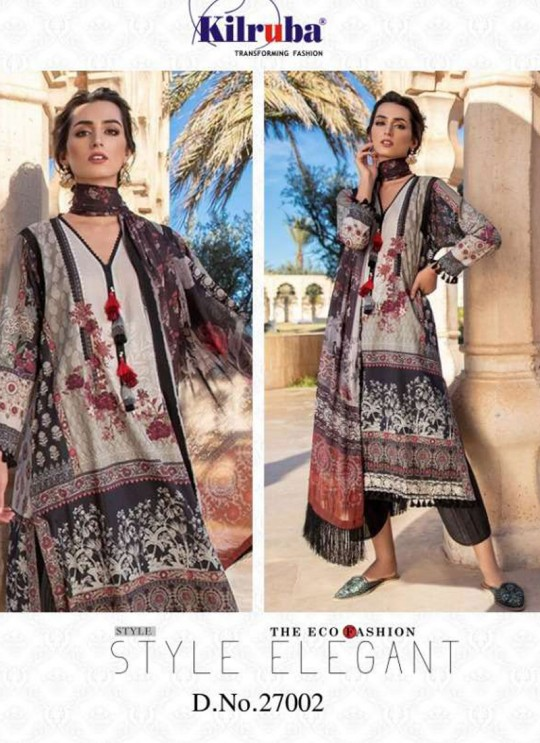 Multicolor Lawn Eid Wear Pakistani Suit Sobia Nazir Embroidery Collection 27002 By Kilruba