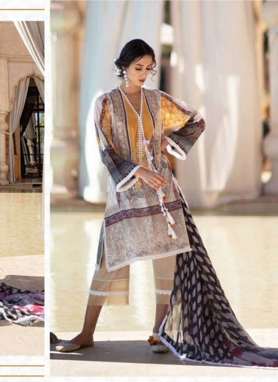 Multicolor Lawn Eid Wear Pakistani Suit Sobia Nazir Embroidery Collection 27003 By Kilruba