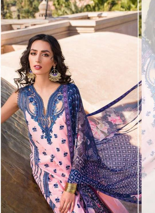 Pink Lawn Eid Wear Pakistani Suit Sobia Nazir Embroidery Collection 27004 By Kilruba
