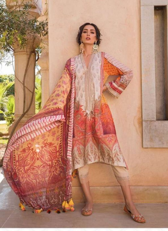 Multicolor Lawn Eid Wear Pakistani Suit Sobia Nazir Embroidery Collection 27006 By Kilruba