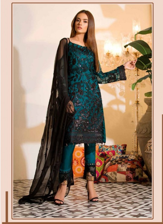 Super Hit Suits K-13BL By Kilruba Blue Party Wear Pakistani Suit SC-016640