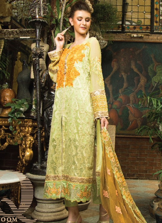 Pista Green Faux Georgette  Pakistani Suits Jannat Zq 9003 Set By Kilruba SC/016342